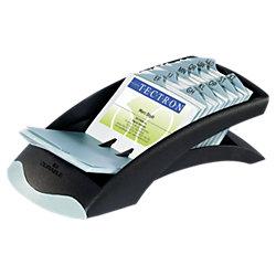 Visitenkarten-Rollarchiv Visifix® Desk Silber/Schwarz 10,4 x 24,5 x 6,7 cm
