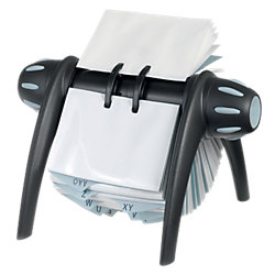 Visitenkarten-Rollarchiv Visifix® Flip DIN A7 Schwarz 21,5 x 18,5 x 12 cm