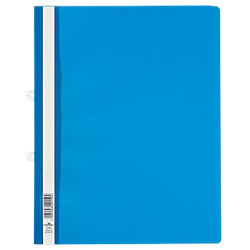 Schnellhefter 258006 DIN A4 Überbreite Blau Hartfolie