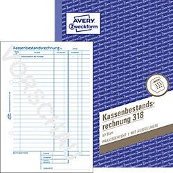 Kassenbericht/Bestandsrechnung 318 DIN A5 4-fach 50 Blatt