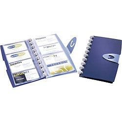 Sichtbuch 2452-07 DIN A7 Dunkelblau Kunststoff für 96 Karten 137 x 255 mm