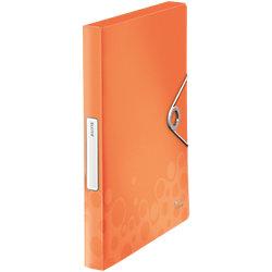 Leitz Dokumentmappe Bebop DIN A4 Orange Polyproplyen 25 x 25 x 3 7 cm