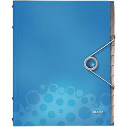 Leitz Ordnungsmappe mit 12 Fächern Bebop DIN A4 Blau Polypropylen 26 x 32 x 1 7 cm