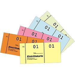Eintrittskarten/871, farblich sortiert, 1-500, 105x53mm, 5x100 Blatt