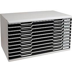 Ablagesysteme Polystyrol/PS Lichtgrau/Schwarz 576 x 350 x 320 mm