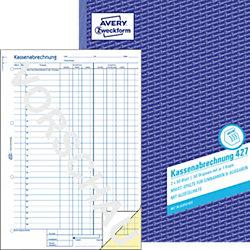 Kassenabrechnung 427 DIN A4 2 x 50 Stück