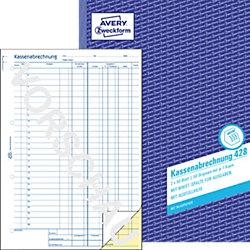 Kassenabrechnung 428 DIN A4 2 x 50 Blatt