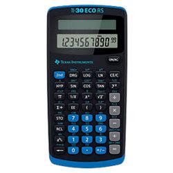 Schulrechner TI-30 ECO RS 7,9 x 15,3 x 1,8 cm Schwarz
