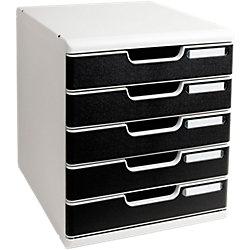Schubladenbox Modulo Lichtgrau/Schwarz 35 x 28,8 x 32 cm