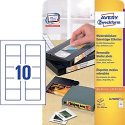 Speichermedien-Etiketten für 3,5' Disketten Weiß 70 x 50,8 mm 25 Blatt