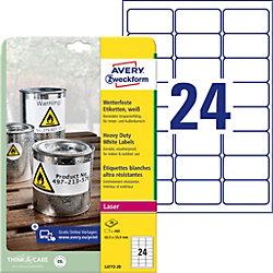 L4773-20 Wetterfeste Etiketten Weiß 63,5 x 33,9 mm 20 Blatt