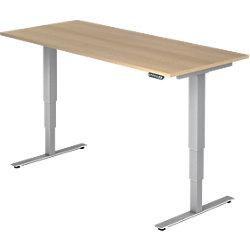 Schreibtisch XDSM 180 x 80 cm Eiche, Silber