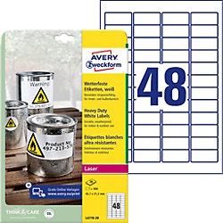L4778-20 Wetterfeste Etiketten Weiß 45,7 x 21,2 mm 20 Blatt