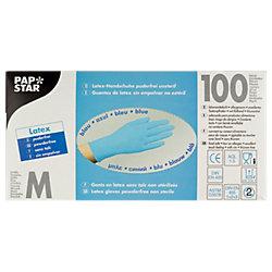 Einweghandschuhe Latex M ungepudert Blau 100 Stück