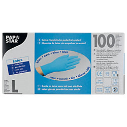 Einweghandschuhe Latex L ungepudert Blau 100 Stück