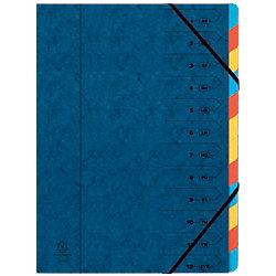 Ordnungsmappe 54122E DIN A4 Blau Tafel, Pressspan