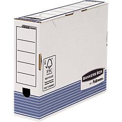 Ablageboxen Prima DIN A4 Weiß/Blau 100% recycelbar 10 Stück