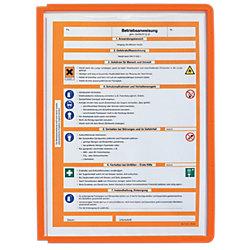 Sichttafeln Sherpa® DIN A4 Orange Polypropylen 5 Stück