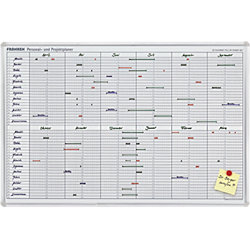 Projekt-Jetkalender JK 710 Weiß/Silber eloxiert 90 x 60 cm