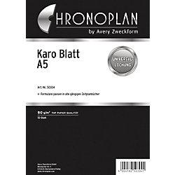 Karierte Blätter für Organizer 2017 Karo-Blätter DIN A5 50 Blatt