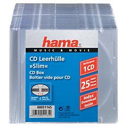 CD-/DVD-Hüllen 51165 1 CDs/DVDs Transparent 25 Stück