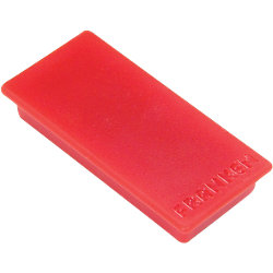 Rechteckmagnete Rot 5 x 2,3 cm 10 Stück