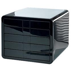 Schubladenbox iBox ABS-Kunststoff Schwarz 29,5 x 35,5 x 24,7 cm