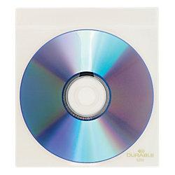 CD-/DVD-Hüllen Top Cover PP mit Schutzvlies 10 CDs/DVDs Transparent 10 Stück