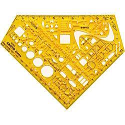 Aristo Schablone Elekro AH5051, 70-AH5050, Elektro, 155 x 155 x 1,3 mm