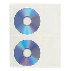 CD-/DVD-Hüllen Cover Light M PP mit Sichttaschen 4 CDs/DVDs Transparent 10 Stück