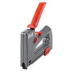 Handtacker J-19 53/8 Rot, Metallic Grau