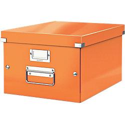 Archiv-Boxen Click & Store Orange Hartpappe mit PP-Folie laminiert 28,1 x 37 x 20 cm
