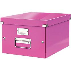 Archiv-Boxen Click & Store 500 Metallic-Pink Hartpappe mit PP-Folie laminiert 28,1 x 37 x 20 cm
