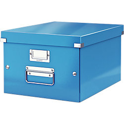 Archiv-Boxen Click & Store 500 Blau Hartpappe mit PP-Folie laminiert 28,1 x 37 x 20 cm