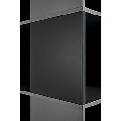 2 Magnettafeln Compactfile Schwarz 35,05 x 2,54 x 35,05 cm