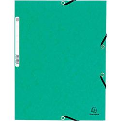 Fächermappe 55303E-EA DIN A4 Grün