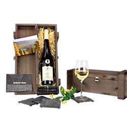 Promo Wein und Schiefer-Glasuntersetzer
