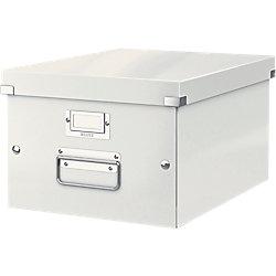 Archiv-Boxen Click & Store Weiß Hartpappe mit PP-Folie laminiert 28,1 x 37 x 20 cm
