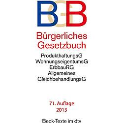 DTV-Verlag BGB Bürgerliches Gesetzbuch/9783423050012