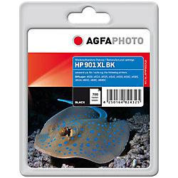 AgfaPhoto® Tintenpatrone für HP® No. 901 XL black, CC654AE, CC653AE Schwarz