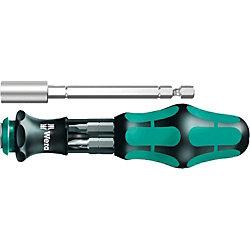 Kombi-Schrauber Kraftform Kompakt 28 SB/ 05073240001 schwarz/grün, Bit Set