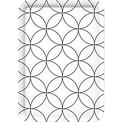 Tablett Decoration Modern Style / 513698 weiß/schwarz