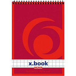 Spiralnotizblock/00110734, kariert, DIN A7, Inh. 50 Blatt