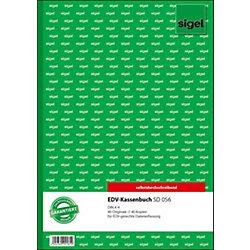 Kassenbuch, EDV / SD056, weiß gelb, SD, A4 hoch, Inh. 2 x 40 Blatt