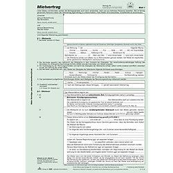 Mietvertrag, mit Übergabeprotokoll, 524/3, 4x2 Blatt, DIN A4, Inh.3 Satz