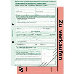 Kaufvertrag gebrauchte Kraftfahrzeuge/586/10, DIN A4, Inh. 10 Stück