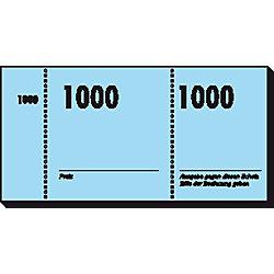 Nummernblocks/GN110, grün+rot+blau+gelb+eosin, 105x50mm, 10x100Blatt