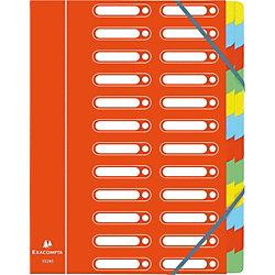 Ordnungsmappe Harmonika/55245E, rot, 24 Fächer, für A4