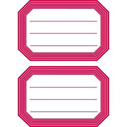 Schulbuch-Etikett 5712 Rot 82 x 55 mm 12 Stück