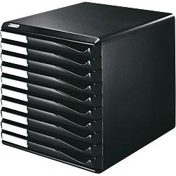 Bürobox /5294-00-95, schwarz/schwarz, 292x291x352 mm, 10 Schubladen